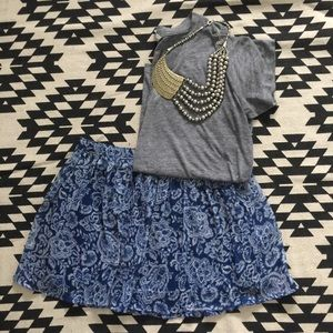 NWT Abercrombie & Fitch Printed Skirt